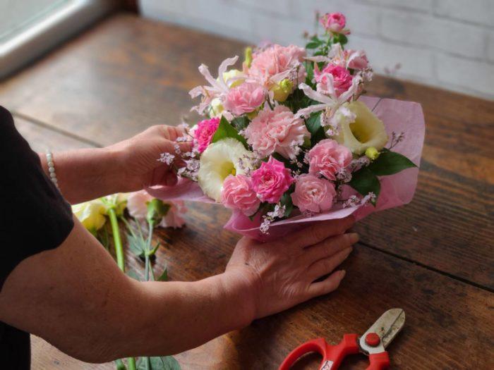 【おまかせ】ピンク系 季節のフラワーアレンジメント