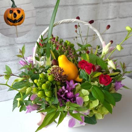 ハロウィンに飾るお花特集