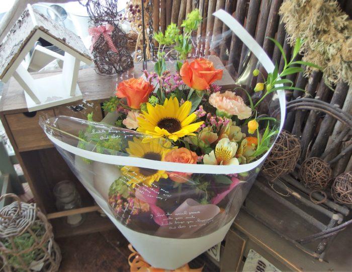 男性へ贈る花束 ヒマワリ