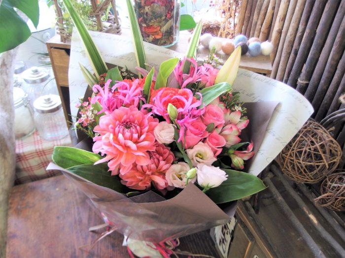 愛するあなたへ ピンクの花束